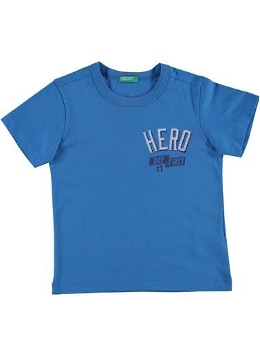 012 Benetton Tişört Mavi